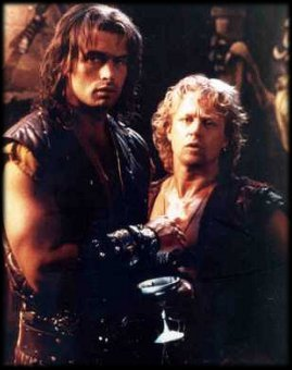 Kevin Smith as Iphicles and Michael Hurst as Iolaus