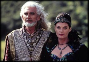 Charles Keating as Zeus and Meg Foster as Hera